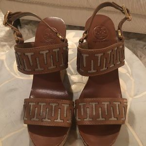 Tory Burch T Pattern Wedges
